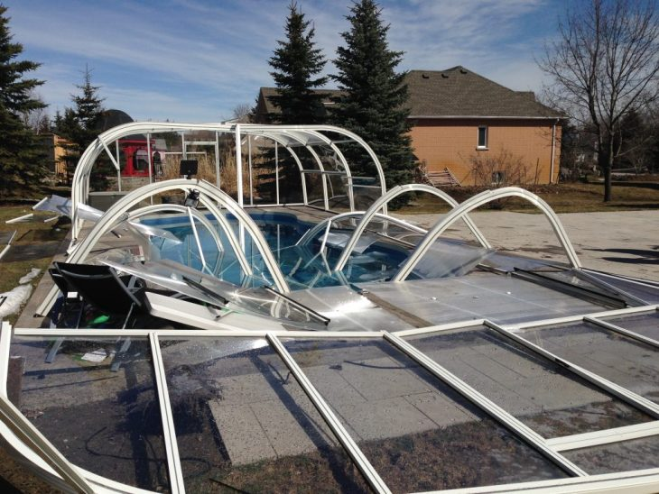 Collapsed Aquacomet Pool Enclosure