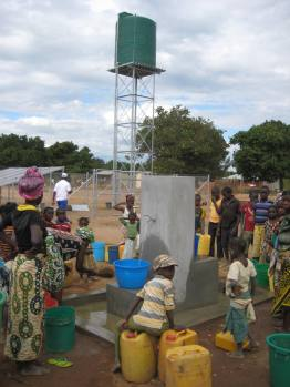 A community uses small scale solar system, Mozambique