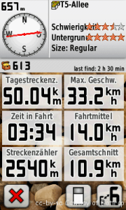 Garmin Screenschot