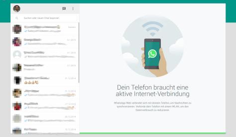 WharsApp Web-Client angemeldet