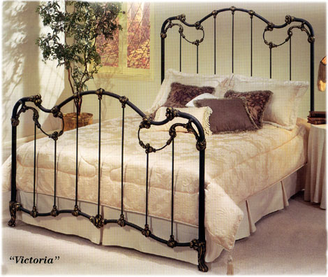 Elliotts Designs Victoria 47 Complete Bed Wrought Rod Iron Beds Antique Bed Reproductions