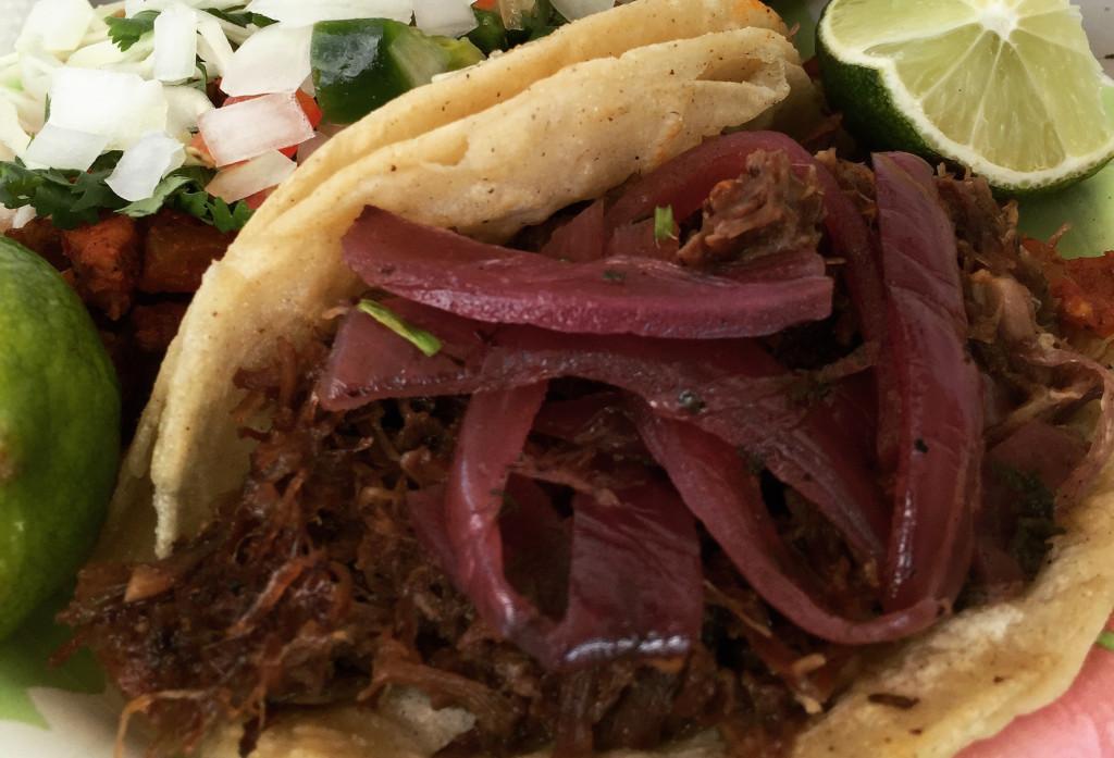 El Chile Toreado's barbacoa taco.