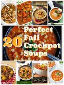 20 Perfect Fall Crockpot Soups
