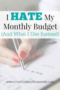 I HATE My Monthly Budget (And What I Use Instead)