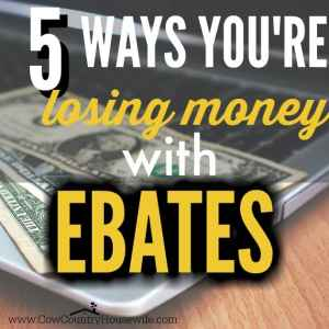 5 Ways You're Losing Money With Ebates
