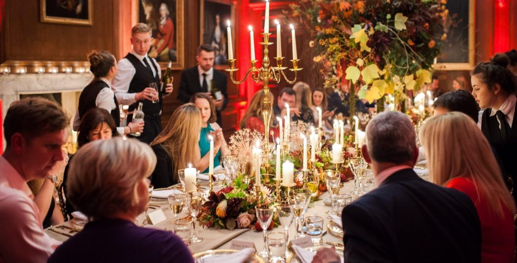 Corporate event dinner Cowdray House