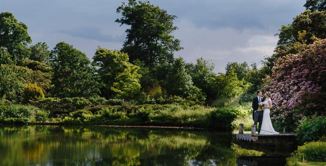 Cowdray House wedding lake