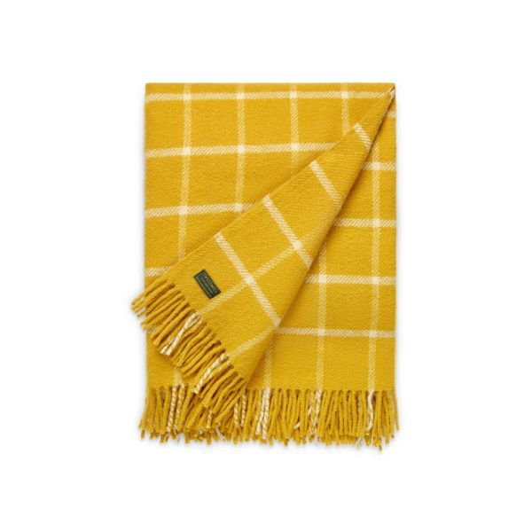 Cowdray Chequered Yellow Throw