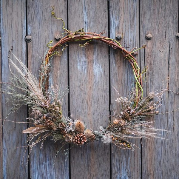A modern Christmas wreath - The Blackdown - Farm Shop - Cowdray Estate