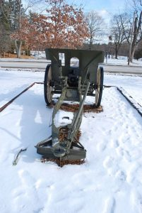 WWI Cannon located in Greeley Park. Photograph courtesy of John R. Bolduc, Nashua NH native.