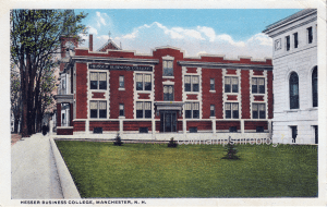From 1917 to 19xx Hesser Business College was located at -- Concord Street, behind the Manchester City Library.