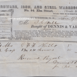 1854 receipt from the firm of Dennis & Varick, Manchester NH