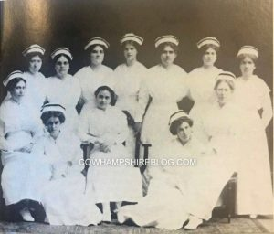 1914 Graduates of the New Hampshire Hospital School of Nursing. Teresa Murphy should be one of these shown. Photograph from