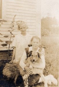 1920s unknown with dog aunt merties