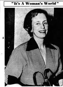 1952 Mrs. Sherman Adams newspaper article