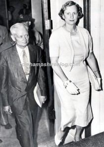 A 1958 photograph of Sherman Adams and his wife Leona (White) Adams.
