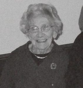 Madeline Bennett in 2006, from Town Report of that Year, Library Staff.