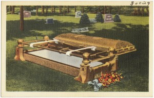 Burial Vault, 1930-1945, postcard by The Tichnor Brothers, Boston Public Libary, Print Collection.