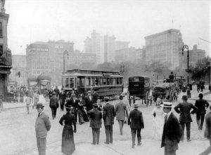 View of southeast Corner of Union Square Manhattan before 1918; Collection of the Art Commission of the City of New York