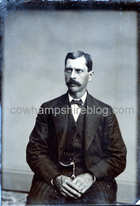 Tintype photograph marked Sewall Batchelder. Civil War Veteran, Co. G. 2nd NH Infantry