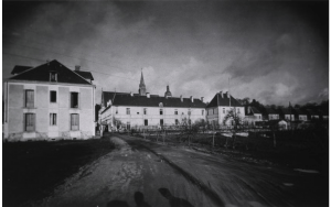 Photoprint of U.S. Base Hospital Number 3, Vauclaire, France, front view; The National Library of Medicine.