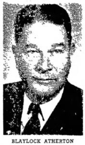 Blaylock Atherton in 1951