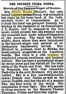 """The Colored Prima Donna,"" newspaper article from The Tennessean (Nashville TN) on 2 June 1886."