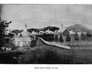 View of the town of Claremont New Hampshire in 1846