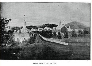 Claremont NH from High Street, 1846 from town history B