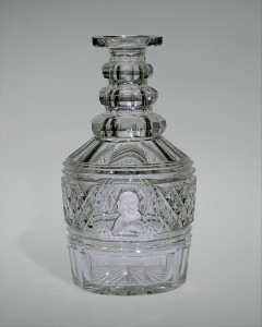American Decanter, made by Bakewell, Page & Bakewell, circa 1826-35, blown and cut glass, Purchase, The Overbrook Foundation Gift, 1995, The Metropolitan Museum of Art.