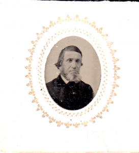 A gem sized tintype of David Phelps