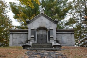 White Mausoleum in Blossom Hill Cemetery. Photograph courtesy of Debbie LaValley.