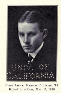 "Photograph of Harold F. Eadie from book, ""Phillips Academy in The Great War,"" 1919."