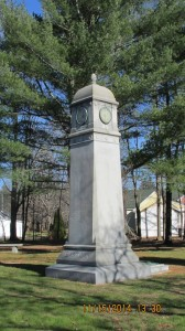 Ebenezer Eastman monument in Concord NH. Photograph property of Tom Campbell Wilson, used with permission.