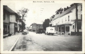 Old postcard of Main Street, Enfield, New Hampshire
