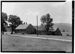 Typical of a Lyme, New Hampshire farm, this is the Enos Snow Farm on River Road in Lyme, Grafton Co. NH, Aubrey P. Janion, Photographer, August 1959.