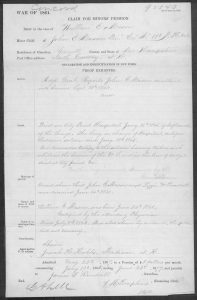Application for Pension of John Edward Mason, to benefit his son.