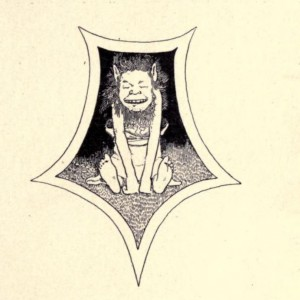"""A ghoul, from """"The Giant Crab and Other Old Tales from India,"""" by W. H. D. Rouse, 1897"""