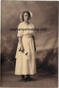 Gladys H. Hesser, daughter of Joel and Laura J. (Fry) Hesser, at one of her school graduations.