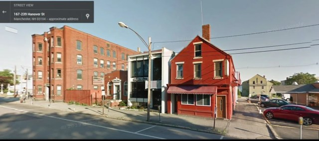 215 Hanover Street today (red building on far right).