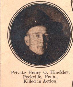 HINCKLEY Henry Peckville PA