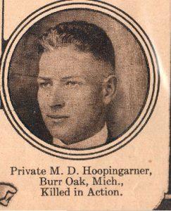 HOOPINGARNER M D Burr Oak Michigan