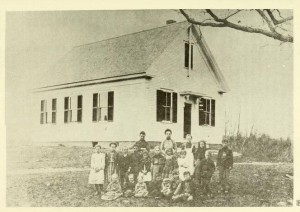 Hale Schoolhouse at the Foot of Mt. Misery, Barrington NH from the Annual Report of the Town 1971
