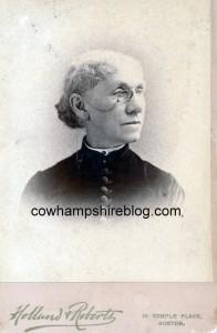 Mrs. Margaret Hall (Sleeper) Fling. Photograph taken in Boston MA, circa 1875-1890s.