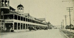 "Photograph of the original Hampton Beach Casino from ""Hampton Beach; the Atlantic City of New England,"" by P.G. Lamson, Manchester NH  (1922)"