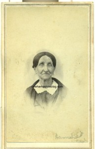 Photograph of Hannah (Smith) Neal, wife of Joseph Neal of Meredith NH.
