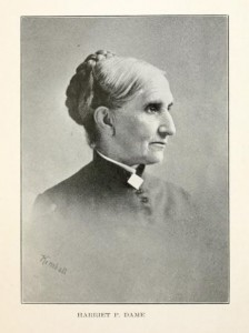 Photograph of Harriet P. Dame from History of New Hampshire, by Everett S. Stackpole, Vol IV, p 19