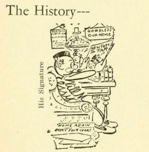 Humorous History graphic from Granite Monthly