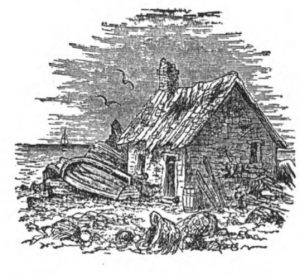 Sketch: Cottage from Isles of Shoals An Historical Sketch by John Scribner Jenness, 1888.