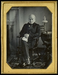 Daguerreotype circa 1850 of John Quincy Adams, artists, Albert S. Southworth, Josiah J. Hawes, and Philip Haas. Metropolitan Museum